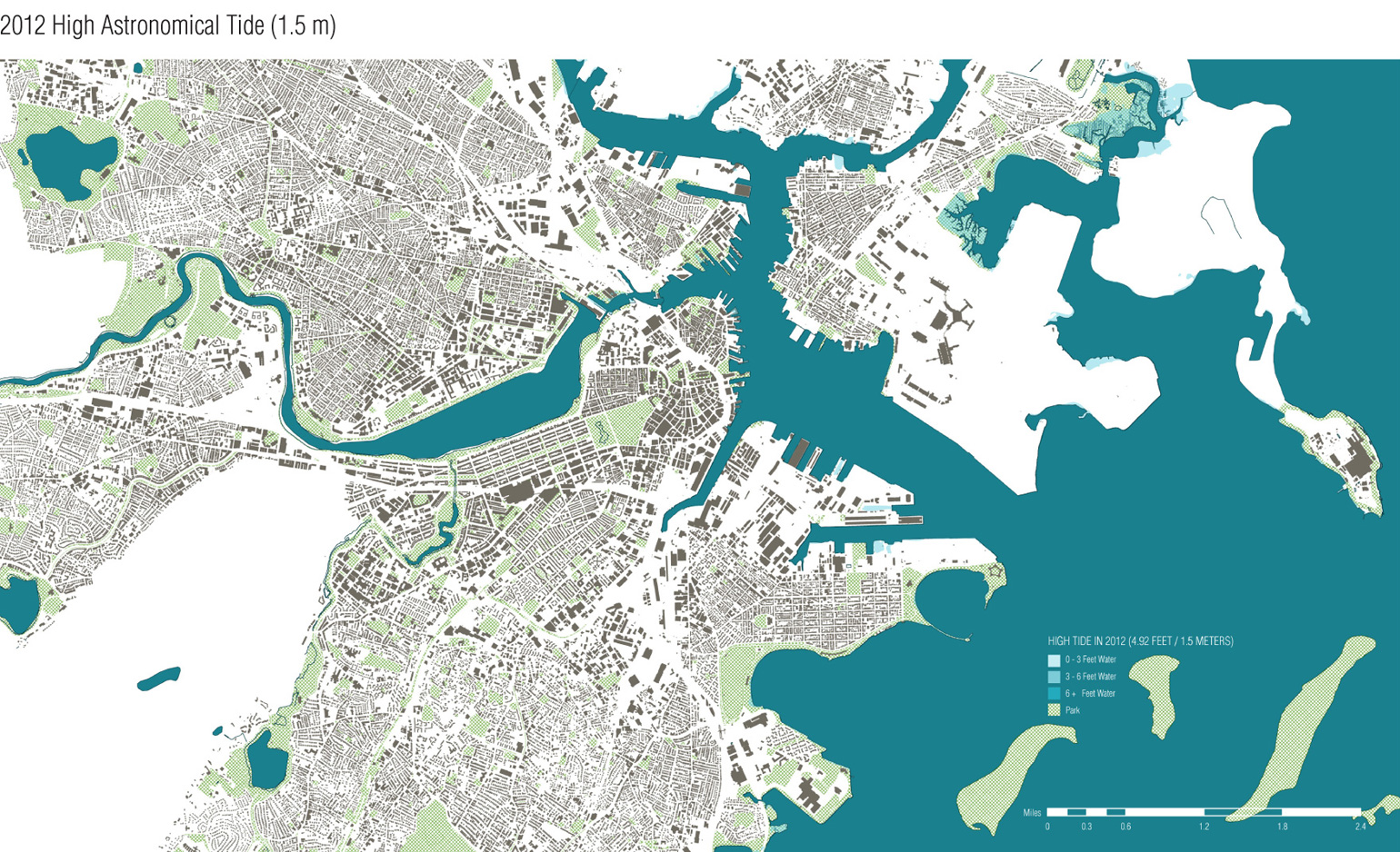 Mapping Sea Level Rise In Boston Tactile Goods - Water rising map