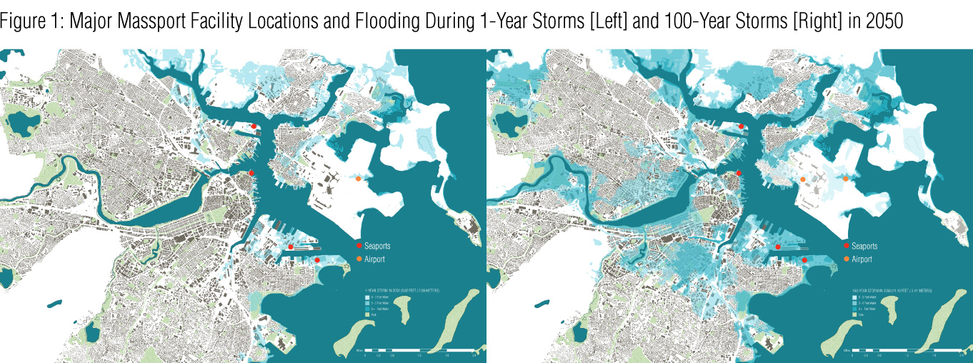 Mapping Sea Level Rise In Boston Tactile Goods - Sea level rise map 2050
